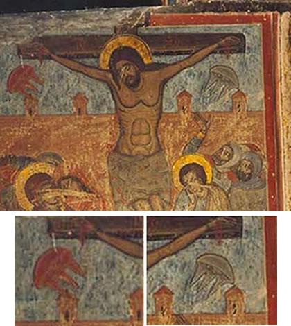 Photo of Ufo's te zien op schilderij Jezus Christus?