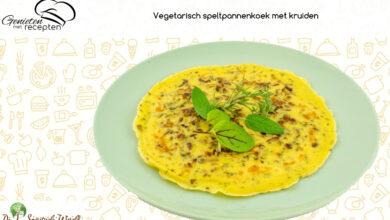 Photo of Vegetarische speltpannenkoek met kruiden