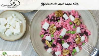 Photo of Rijstsalade met rode biet
