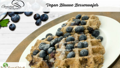 Photo of Vegan Blauwe Bessenwafels