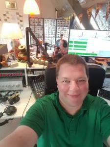 In de studio